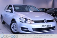 2013 VOLKSWAGEN GOLF 1.6 TDI 105 BHP S BLUEMOTION TECHNOLOGY 5d £8985.00