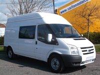 2011 FORD TRANSIT 115 T350L [ 6s Welfare / Mess+Toliet Unit ] Low mileage Fsh FreeUK Delivery £12950.00