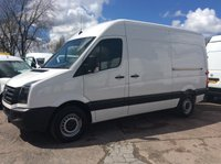 2014 VOLKSWAGEN CRAFTER 2.0 CR35 TDI MWB H/R P/V 107 BHP 6 SPEED 1 OWNER FSH £11995.00