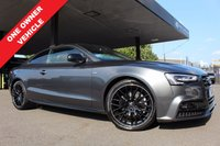 USED 2015 15 AUDI A5 2.0 TDI S LINE BLACK EDITION PLUS 2d 177 BHP +SAT NAV+LEATHER+19