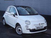 2010 FIAT 500 1.2 LOUNGE 3d 69 BHP £4495.00