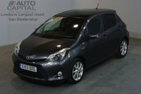 USED 2013 13 TOYOTA YARIS 1.5 T SPIRIT HYBRID 5d AUTO 101 BHP AIR CON PANORAMIC ROOF CAR TWO OWNER FULL S/H SPARE KEY AIR CON
