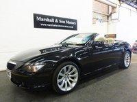 2006 BMW 6 SERIES 3.0 630I SPORT 2d AUTO 255 BHP CONVERTIBLE £10399.00