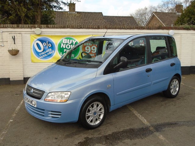 2004 54 FIAT MULTIPLA 1.9 ELEGANZA JTD 5d 115 BHP SORRY NOW SOLD