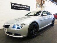 2008 BMW 6 SERIES 3.0 630I SPORT 2d AUTO 269 BHP £11199.00