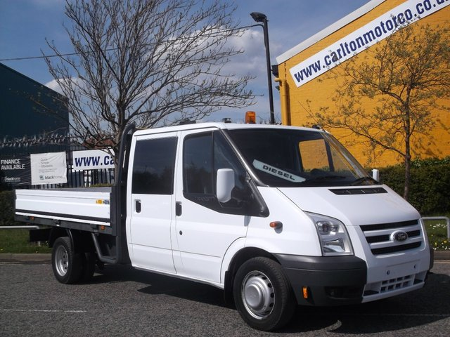 2010 60 FORD TRANSIT 115 T350L D/Cab Dropside [ Welfare / Mess Unit ] Ex lease Fsh Free UK Delivery DRW