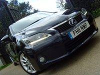 2011 LEXUS CT 1.8 200H SE-L PREMIER 5d AUTO 136 BHP £8999.00