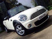 2014 MINI CONVERTIBLE 1.6 ONE 2d 98 BHP £10999.00