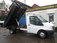 2011 FORD TRANSIT  350 TIPPER 1 STOP ALLOY BODY 2.4 TURBO DIESEL 115 PSI   ONE OWNER FULL SERVICE HISTORY VERY CLEAN TIPPER READY FOR WORK  £SOLD