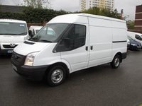 2013 FORD TRANSIT 63 reg, 2.2 280 MEDIUM WHEEL BASE, SEMI HIGH ROOF, 125 BHP, FULL HISTORY, EXCELLENT CONDITION £8500.00