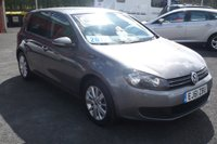 2012 VOLKSWAGEN GOLF 2.0 MATCH TDI BLUEMOTION TECHNOLOGY 5d 138 BHP £10950.00