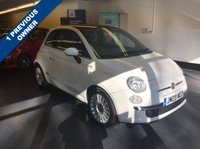 USED 2009 09 FIAT 500 1.2 LOUNGE MULTIJET 75 3d 75 BHP FULL RED LEATHER, GLASS ROOF, LOW MILES, £20 A YEAR TAX AND AMAZING FUEL ECONOMY