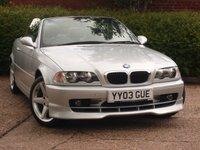 2003 BMW 3 SERIES 2.5 325CI 2d 190 BHP £3990.00