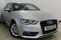 USED 2014 14 AUDI A3 1.2 TFSI SE 3DR AUTOMATIC 104 BHP BLUETOOTH + AIR CONDITIONING + ALLOY WHEELS + START/STOP + CLOTH UPHOLSTREY