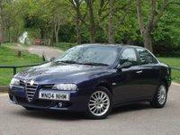 2004 ALFA ROMEO 156 2.0 JTS VELOCE 4d 164 BHP £1975.00