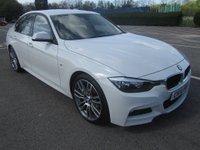 USED 2014 14 BMW 3 SERIES 2.0 318D M SPORT 4d 141 BHP SAT NAV + LEATHER + FBMWSH