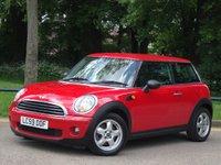 2009 MINI HATCH ONE 1.4 ONE 3d 94 BHP £5995.00