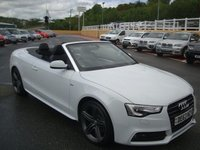 USED 2013 63 AUDI A5 CABRIOLET CABRIOLET 2.0 TDI S LINE SPECIAL EDITION 175 BHP Ibis White, Black leather, B&O, Media AMI, 19 inch, Neck heating & more