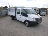 2013 FORD TRANSIT 2.2TDCi 350 DRW Double Cab Tipper 124 BHP £14795.00