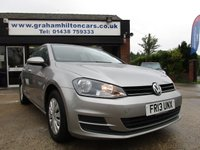 2013 VOLKSWAGEN GOLF 1.4 S TSI BLUEMOTION TECHNOLOGY DSG 5d AUTO 120 BHP £10000.00