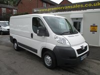 2012 PEUGEOT BOXER 2.2 HDI 330 L1H1 PROFESSIONAL, 110 BHP, AIR CON, ELECTRIC MIRRORS/WINDOWS, FULL HISOTRY £5995.00