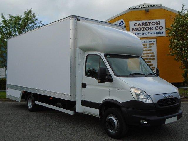 2012 12 IVECO-FORD DAILY 70C17 Dropwell Luton 20ft Box Van [ 3.0Hpi Semi Auto ]+A/C Low mileage Free UK Delivery