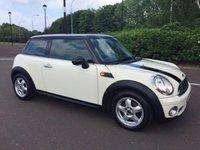 2008 MINI HATCH ONE 1.4 ONE 3d 94 BHP £4995.00