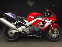 2016 HONDA CBR 900 RR1 FIREBLADE 929cc. 2001. 11876. JUST SERVICED £2950.00