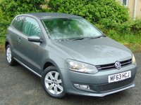 2013 VOLKSWAGEN POLO 1.2 MATCH EDITION 3d 59 BHP £8000.00