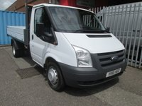 2011 FORD TRANSIT 350 Single Cab One Stop Alloy Tipper 115PS *TWIN REAR WHEELS* £SOLD