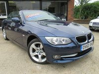 "USED 2010 60 BMW 3 SERIES 2.0 320I SE 2d 168 BHP CONVERTIBLE, ONE PRIVATE OWNER, FULL LEATHER, 17"" ALLOYS, PARKING SENSORS, ALLOYS, AIR CONDITIONING"
