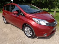 2013 NISSAN NOTE 1.2 ACENTA PREMIUM SAFETY COMFORT 5d 80 BHP FORCE RED. £7250.00