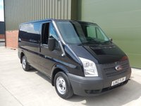 2012 FORD TRANSIT 2.2 260 LOW ROOF  1d 99 BHP SWB PANEL VAN BLACK PLUS VAT £4750.00