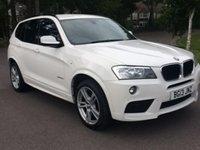 2013 BMW X3 2.0 XDRIVE20D M SPORT 5d AUTO 181 BHP £22950.00