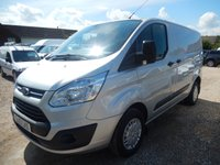 2013 FORD TRANSIT CUSTOM 2.2 TDCi 125 BHP 270 TREND LOW ROOF SILVER 70513 MILES £10495.00