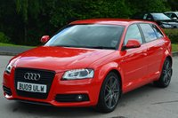 2009 AUDI A3 2.0 SPORTBACK TDI S LINE SPECIAL EDITION 5d 138 BHP £10995.00