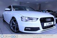 2014 AUDI A4 2.0 TDI 150 BHP S LINE BLACK EDITION 4d £18485.00