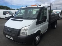 2012 FORD TRANSIT T350 2.2 TDCi 100 6-Speed TIPPER £11995.00