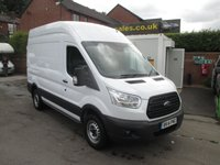 2014 FORD TRANSIT 2.2 350, NEW SHAPE, MEDIUM WHEEL BASE, H/ROOF, AIR CON, BLUETOOTH, F & R PARKING SENSORS, ELECTRIC PACK, TOW BAR, FULL HISTORY, EX LEX LEASE ONE OWNER £11995.00