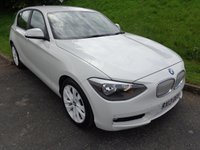 2013 BMW 1 SERIES 1.6 116I URBAN 5d AUTO 135 BHP ALPINE WHITE 1/2 LEATHER £12500.00