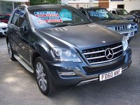 2011 MERCEDES-BENZ M CLASS 350CDi BlueEFFICIENCY GRAND EDITION AUTO 231 BHP £18995.00