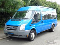 USED 2007 07 FORD TRANSIT T4302.4TDCI 115BHP 17 SEATER LWB MINI BUS +REAR ELEC TAILLIFT+8 STAMPS+