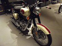 USED 2016 ROYAL ENFIELD 500 CLASSIC TAN .