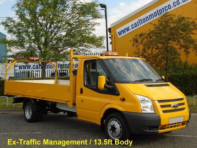 2013 13 FORD TRANSIT 125 350 EF Dropside /  Pickup Low Mileage Ex Traffic Management Free UK Delivery