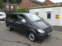 2007 MERCEDES-BENZ VITO 2.1 115 CDI LONG SWB 1d 146 psi     SIX SEAT CREW VAN , METALLIC BLACK  LWB  FULL SERVICE HISTORY     !!  NO VAT  !!   £5500.00