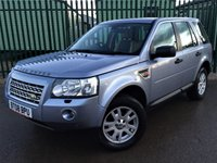 USED 2008 08 LAND ROVER FREELANDER 2 2.2 TD4 SE 5d AUTO 159 BHP SAT NAV PAN ROOF LEATHER 4WD. SATELLITE NAVIGATION. PANORAMIC SUNROOF. STUNNING BLUE WITH PART BIEGE LEATHER TRIM. ELECTRIC HEATED SEATS. CRUISE CONTROL. 17 INCH ALLOYS. COLOUR CODED TRIMS. PARKING SENSORS. BLUETOOTH INTERFACE. AIR CON. TRIP COMPUTER. R/CD PLAYER. MFSW. TOWBAR. MOT 08/18. SERVICE HISTORY. TEL 01937 849492