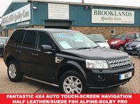 USED 2010 60 LAND ROVER FREELANDER 2.2 SD4 XS AUTO 190 BHP Touch Screen NAV Bluetooth Fantastic 4x4 Auto Touch-Screen Navigation Half Leather/Suede FSH Alpine-Dolby Pro