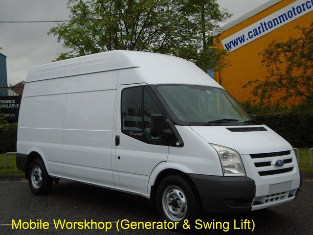 2009 09 FORD TRANSIT 115 T350L High Roof [ Mobile Workshop+Invertor Swing Lift ] van Low mileage Free UK Delivery