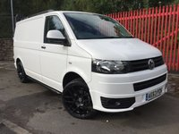 2013 VOLKSWAGEN TRANSPORTER  VW T5 2013 2.0 T28 TDI  SPORTLINE STYLE 160 BHP CARPETED ONE OWNER SERVICE HISTORY £12995.00