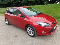 2012 FORD FOCUS 1.6 ZETEC 5d 124 BHP CANDY RED MET. £7650.00